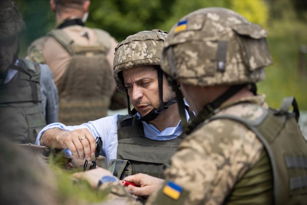Владимир Зеленский на Донбассе, Фото: Пресс-служба президента