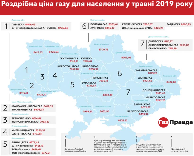 Украинцы в мае по-разному будут платить за газ - в зависимости от области