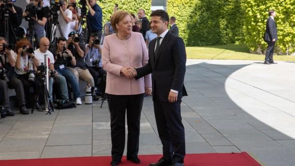 Меркель и Зеленский