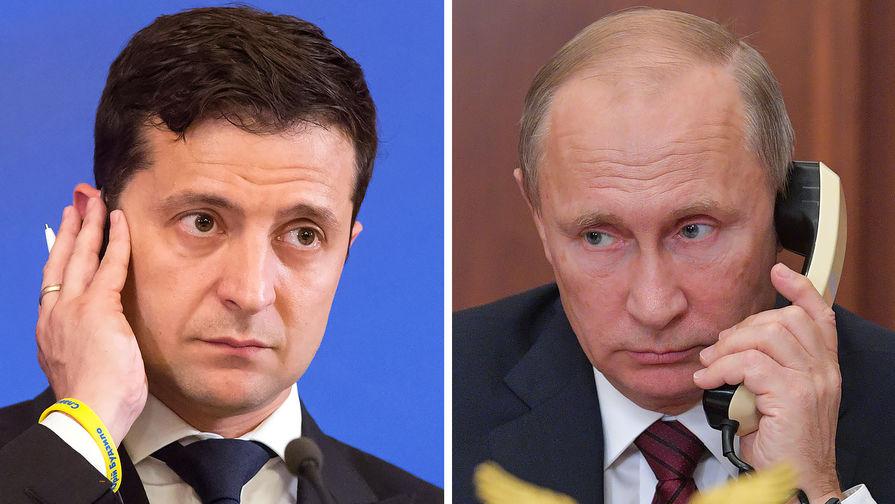 Владимир Путин и Владимир Зеленский, Фото: Газета.ру