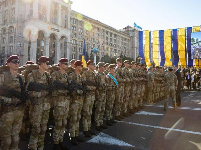 Военный парад в Киеве-2018, Фото: Апостроф