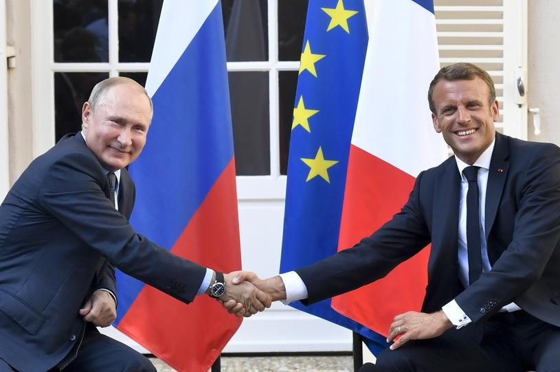 Путин и Макрон, Фото: AFP