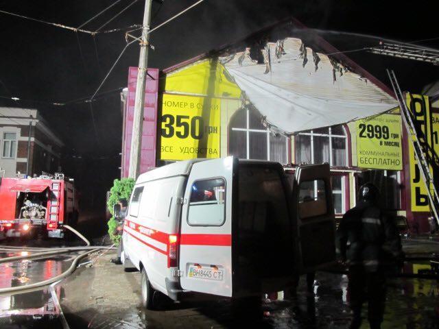 Пожар в отеле в Одессе, Фото: Цензор