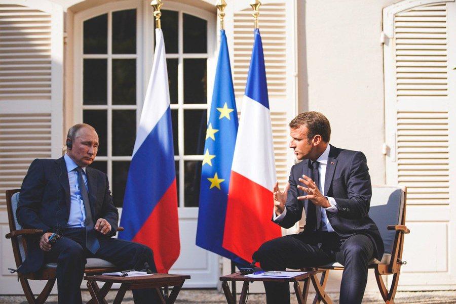 Макрон и Путин, Фото: AFP