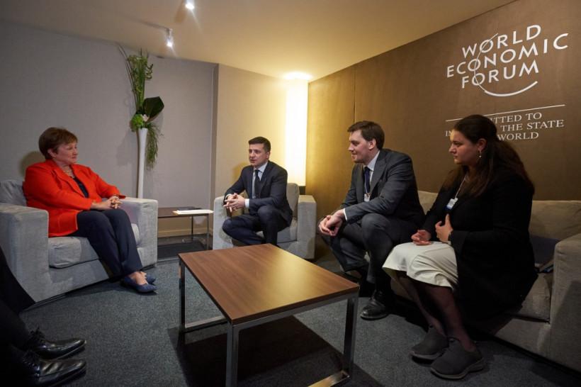 Зеленский в Давосе встретился с директором-распорядителем МВФ