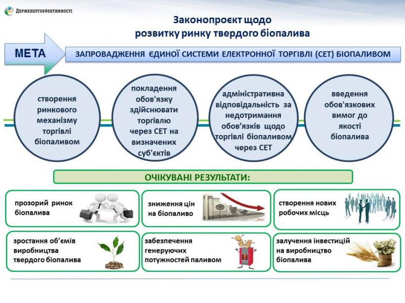 В Украине внедрят систему электронной торговли твердым биотопливом