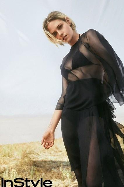 30-летняя Кристен Стюарт позировала в полупрозрачном платье (ФОТО)