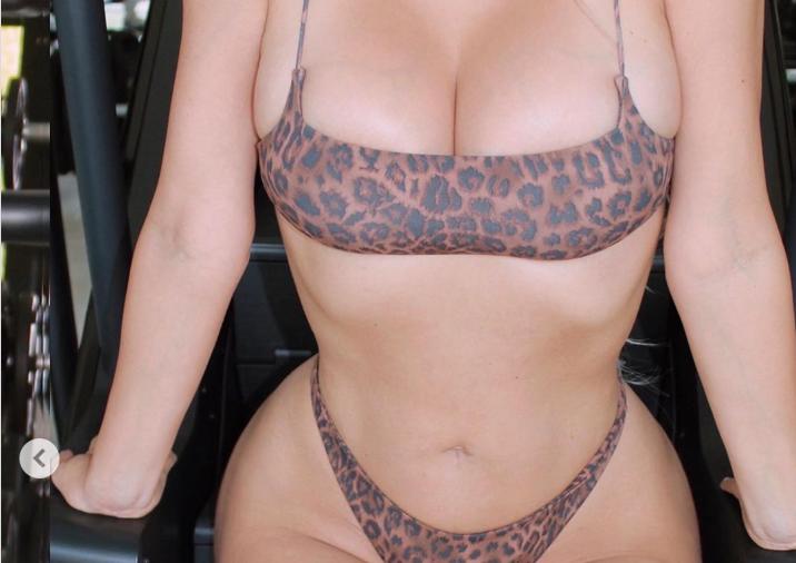 Ким Кардашьян похвасталась «карантинным фото» с тренировки
