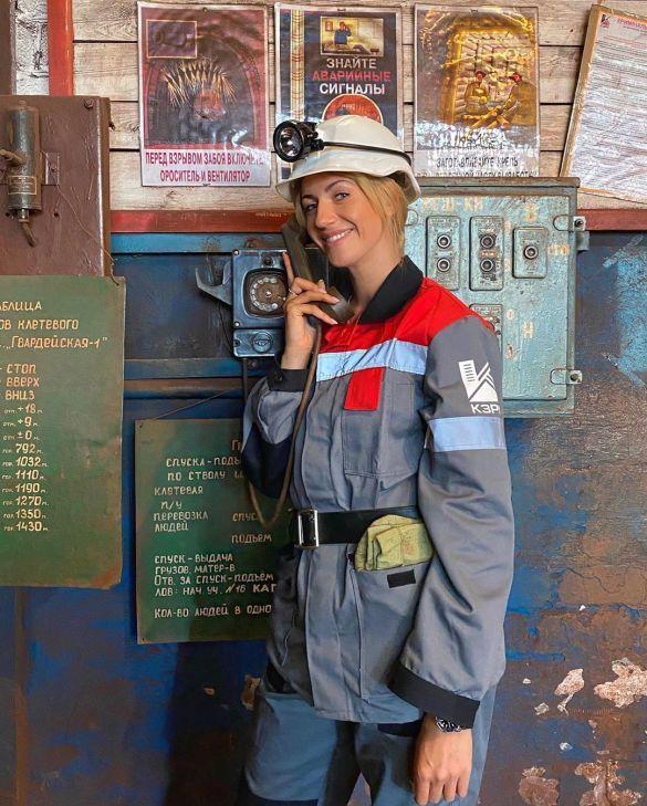 Леся Никитюк спустилась в шахту (ФОТО)