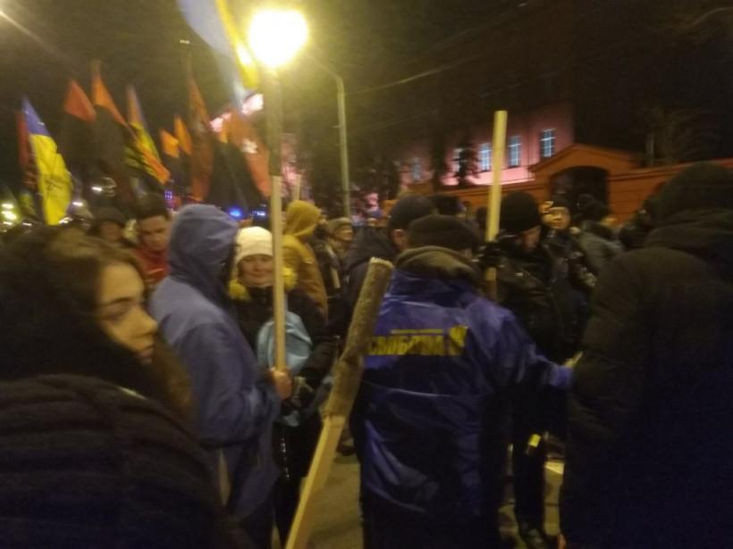 Факельное шествие националистов в Киеве: первые фото