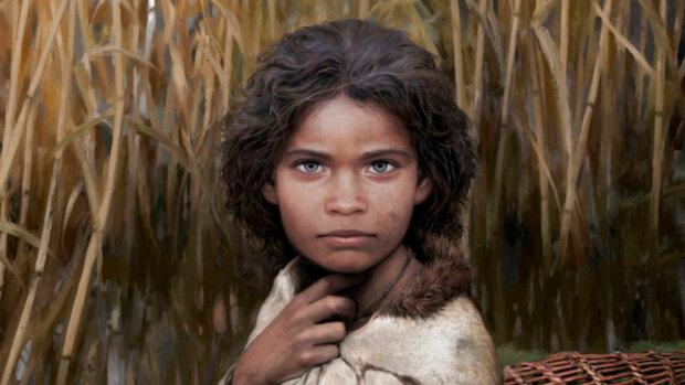 На основе ДНК из слюны: ученые воссоздали внешность голубоглазой девушки из каменного века (ФОТО)