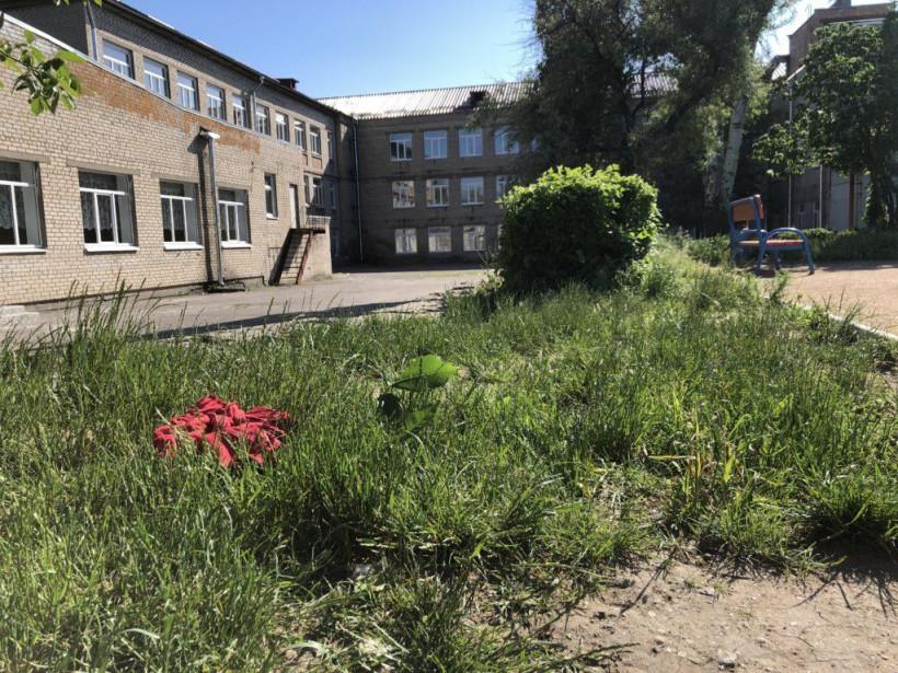 На площадке школы в Бердянске пьяный мужчина бросал камни в детей (ФОТО, ВИДЕО)