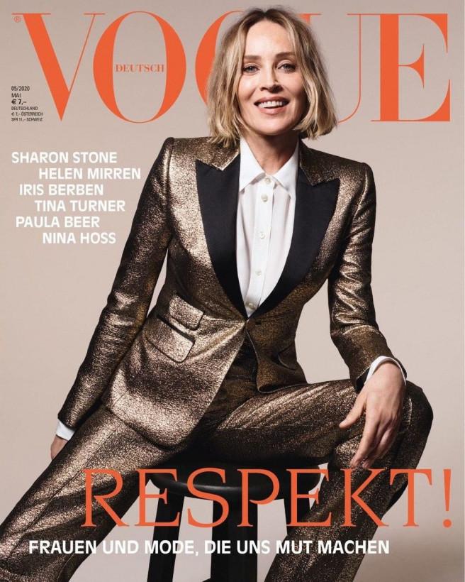 62-летняя Шэрон Стоун снялась для обложки Vogue (ФОТО, ВИДЕО)