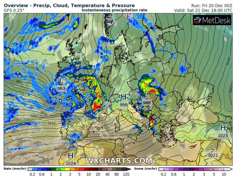 Синоптик: На выходных в Украину придет потепление вместе с осадками (КАРТЫ)