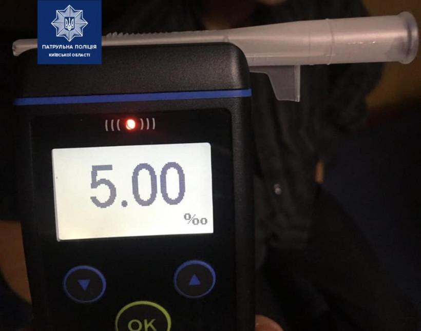 5 промилле алкоголя в крови: Под Киевом патрульные остановили пьяного водителя грузовика (ФОТО)