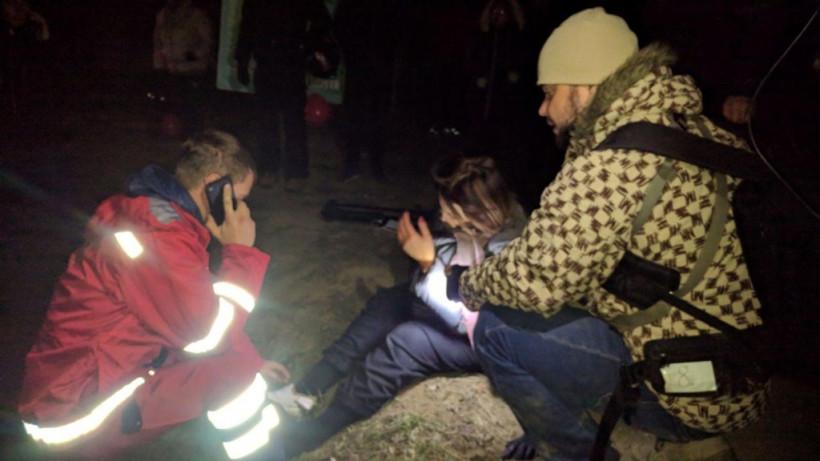 После брифинга Зеленского журналистка обратилась в больницу со сломанной ногой (ФОТО)