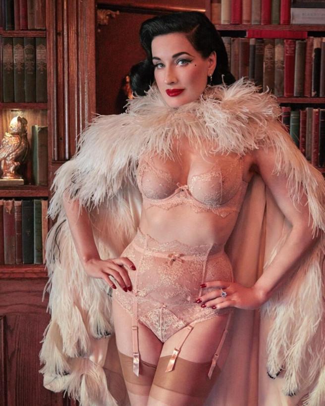 48-летняя Дита фон Тиз позировала в сексуальном кружевном белье: поклонники в восторге (ФОТО)